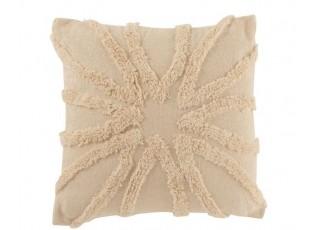 Přírodní bavlněný polštář s třásněmi Ibiza flower - 45*45cm