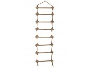 Závěsný jutovo-dřevěný dekorační žebřík Hangi - 48*3*120 cm