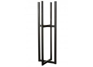 Černý kovový stojan na květináč XL
