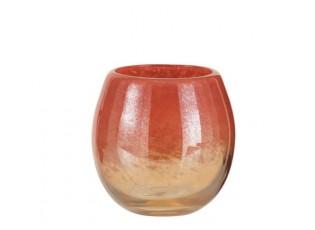 Oranžová skleněná váza /svícen Oriental orange - Ø 14*14cm