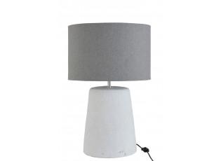 Stolní lampa v šedo-bílé kombinaci Abelle L - Ø 42*64 cm