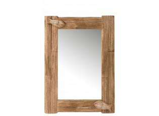 Nástěnné zrcadlo v dřevěném rámu s rybami Mer - 57,5*4*79,5 cm