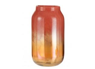 Oranžová skleněná váza Oriental orange - Ø 17*30cm