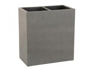 Šedý cementový květináč se 2 květníky - 69*37*73 cm