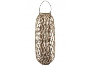 Šedohnědá dřevěná lucerna Romaine L - Ø 38,5*96,5 cm