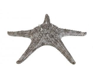 Dekorativní šedo stříbrná mořská hvězdice - 37*37*10 cm