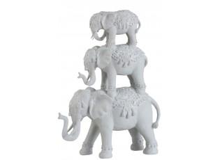 Dekorativní soška 3 indických slonů - 32*13*44 cm