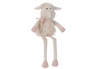 Béžová dekorační textilní ovečka Deco - 15*12*28 cm