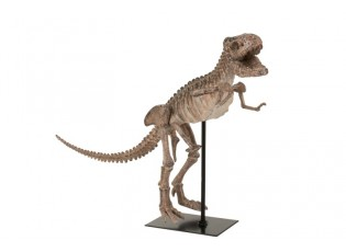 Dekorace dinosaurus T-rex na kovové noze - 47,5*15*36 cm