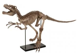 Dekorace dinosaurus Raptor na kovové noze - 145*59*81,5 cm
