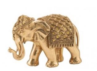 Zlatá dekorace Slon - 21*9*13 cm