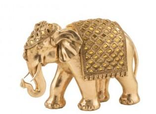 Zlatá dekorace Slon - 31*14*22 cm
