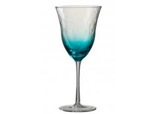 Modrá sklenička na víno Verma - Ø 10*22 cm