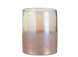 Růžová perleťová váza High pink - Ø 17*21cm