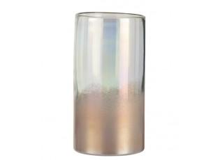 Růžová perleťová váza Pearl pink - Ø 14*26cm
