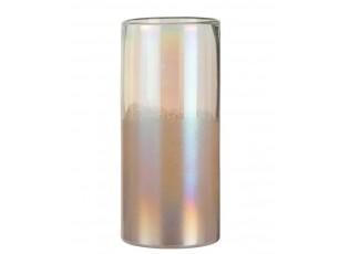 Růžová perleťová váza Pearl pink - Ø 14*31cm