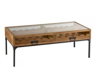 Konferenční dřevěný stůl na láhve vína Vine - 120*60*45 cm