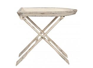 Rozkládací dřevěný stůl v designu pramice s pádly - 70*39*64 cm