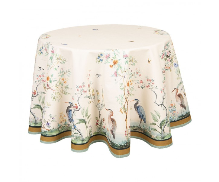 Kulatý ubrus na stůl Birds in Paradise - Ø 170 cm