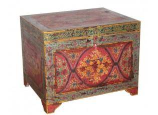 Malovaná dřevěná truhla Sphere - 77*60*59cm