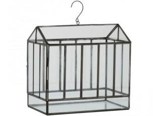 Černý závěsný domácí skleník - 34*20*40 cm