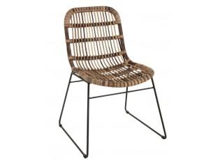 Dřevěná židle s kovovou konstrukcí Banana - 60*63*85 cm