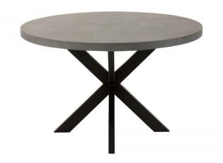 Cementový jídelní stůl s kovovou konstrukcí Oli - Ø 120*75 cm