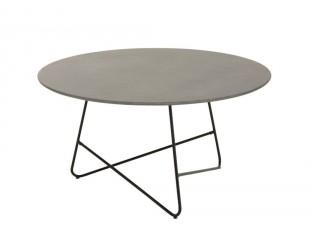 Cementový konferenční stůl s kovovou konstrukcí Oli - Ø 90*45 cm