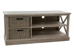 Televizní stolek se 2 košíky Jerome - 120*49*51 cm
