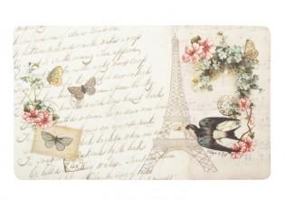 Podlahová rohož s květy a ptáčkem - 44 * 74 cm