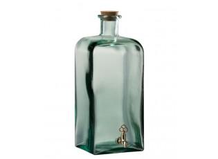 Zelená nádoba na nápoje s kohoutkem - 15*15*39cm