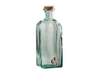 Zelená nádoba na nápoje s kohoutkem - 15*11*29cm