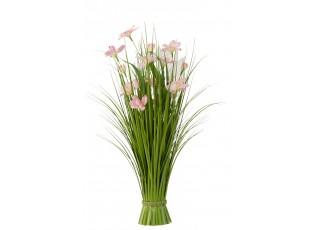 Okrasná tráva s růžovými květy - Ø 30*73 cm