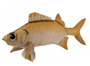 Hnědý polštář ve tvaru ryby Fish Jeff - 93*28*40 cm