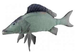Modrý polštář ryba Fish Paul - 93*28*40 cm