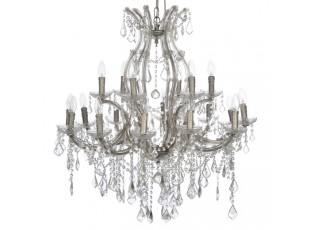 Dvoupatrový křišťálový lustr  Excellent 12+6 žárovek - Ø 90*90 cm