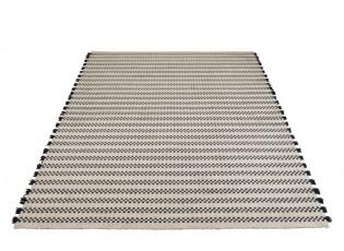 Bílo-tmavě modrý kusový koberec Échecs - 200*300*1 cm