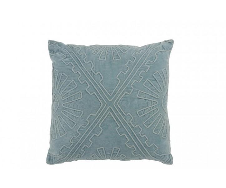 Světle modrý polštář s výplní Aztec - 45*45 cm