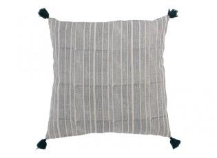 Pruhovaný polštář s potiskem a střapci Aztec - 60*60 cm