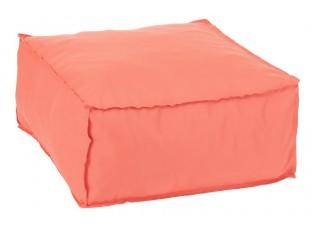 Oranžový sedák / puf Hassock - 60*60*28 cm