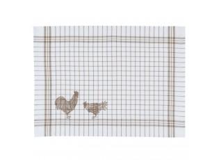 Prostírání Country Side Chicken nature - 48*33 cm - sada 6ks