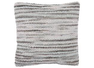 Mintovo-šedý polštář s výplní Rivera green - 45*45 cm