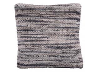 Šedý polštář s výplní Rivera grey multi - 45*45 cm