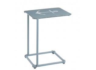Modrý kovový odkládací stolek s kotvou Anchor - 53*42*66cm
