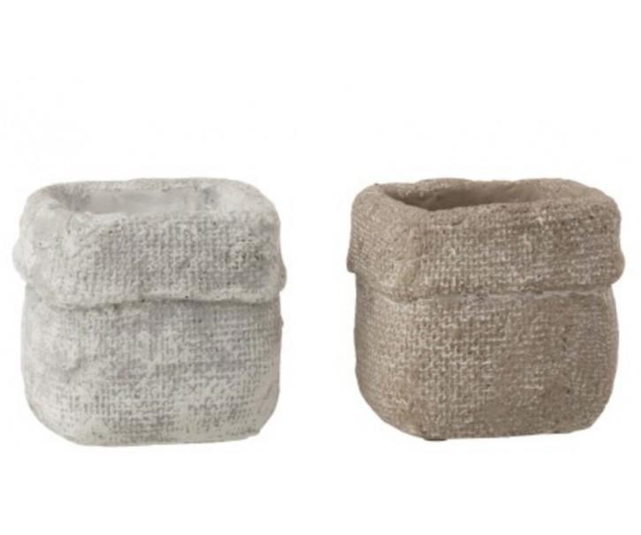 Set 2 betonových květináčů Ciment – Ø 10*9 cm