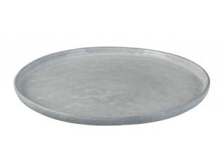 Modrý keramický jídelní talíř  Shiny blue - Ø 28 cm