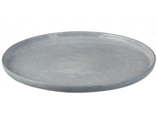 Modrý keramický jídelní talíř  Shiny blue XL - Ø 32cm