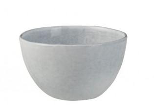 Modrá keramická miska  Shiny blue - Ø  14*8 cm