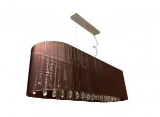 Oválné hnědé závěsné světlo Venezia Brown - 110*30cm / 5*E14