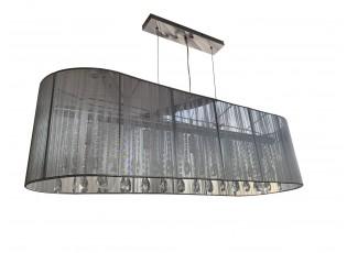 Oválné šedé závěsné světlo Venezia Grey - 110*30cm / 5*E14